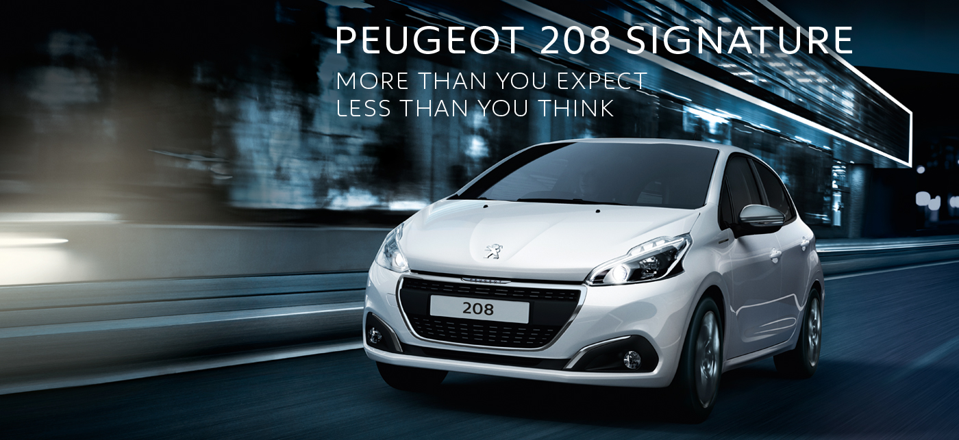 New Peugeot 208 for £205 per Month